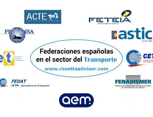 Principales asociaciones españolas del transporte terrestre