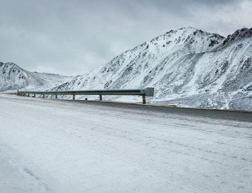 Complicaciones en el transporte debido a la nieve.